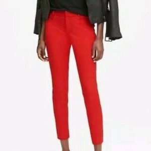 Banana republic sloan solids red ankle pants